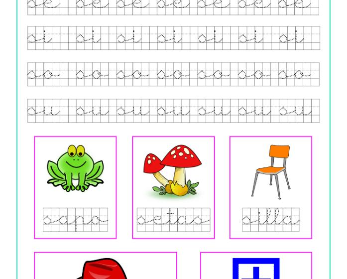 Ficha caligrafía cuadricula letra S y vocales, recursos educativos