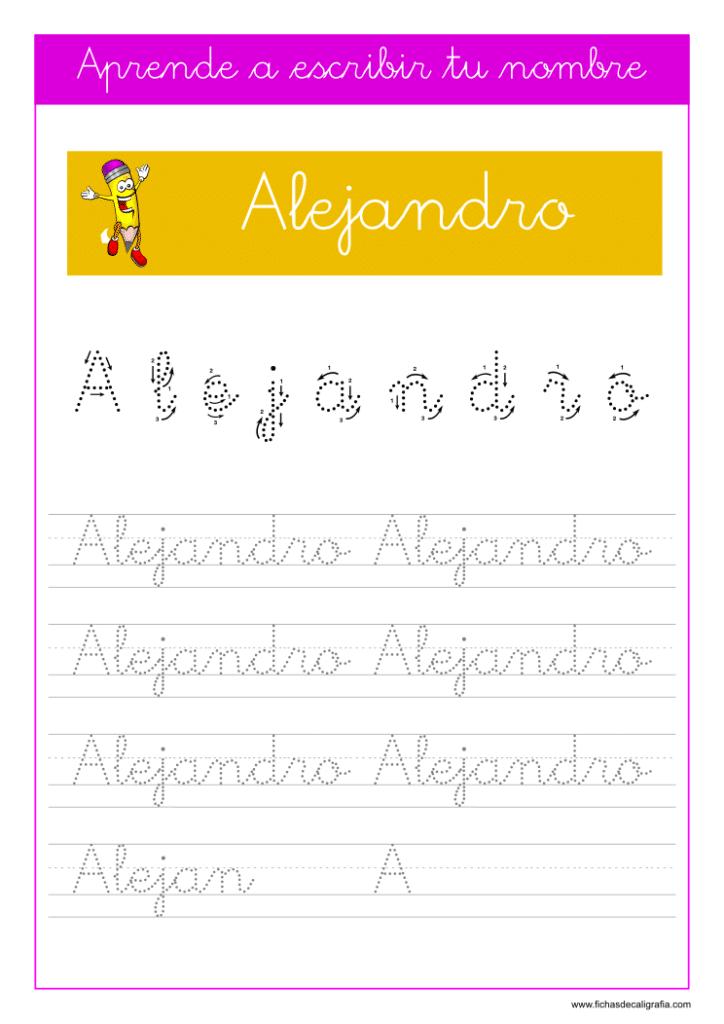 Caligrafía Alejandro