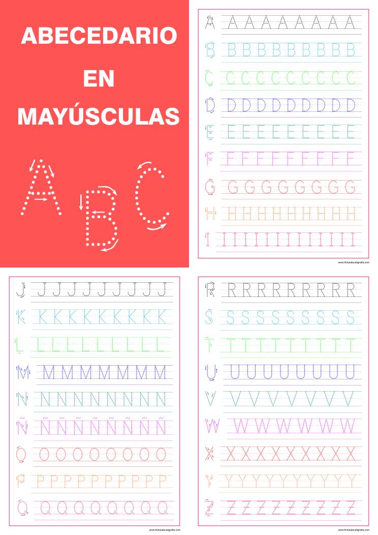 letras alfabeto mayúsculas