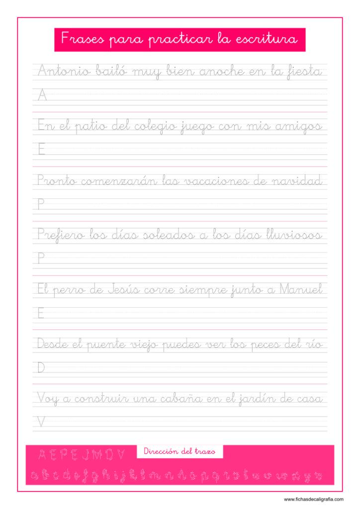 Texto para practicar la caligrafía