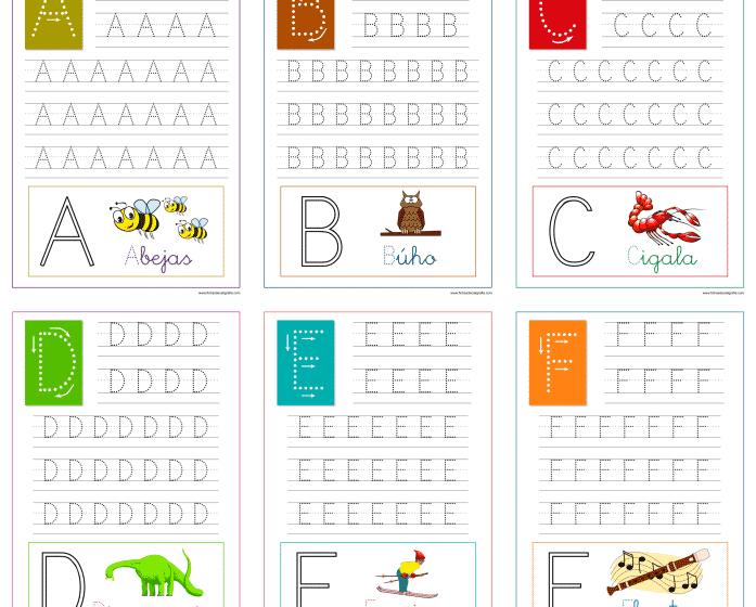Aprender a escribir las letras del abecedario, recursos educativos