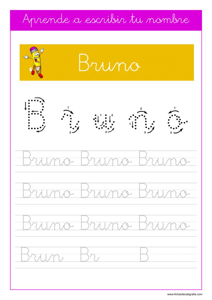Caligrafía Bruno