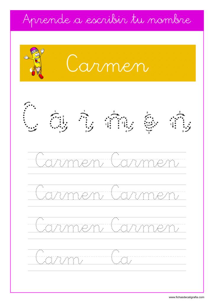Caligrafía Carmen