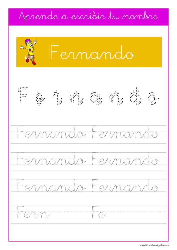 Caligrafía Fernando
