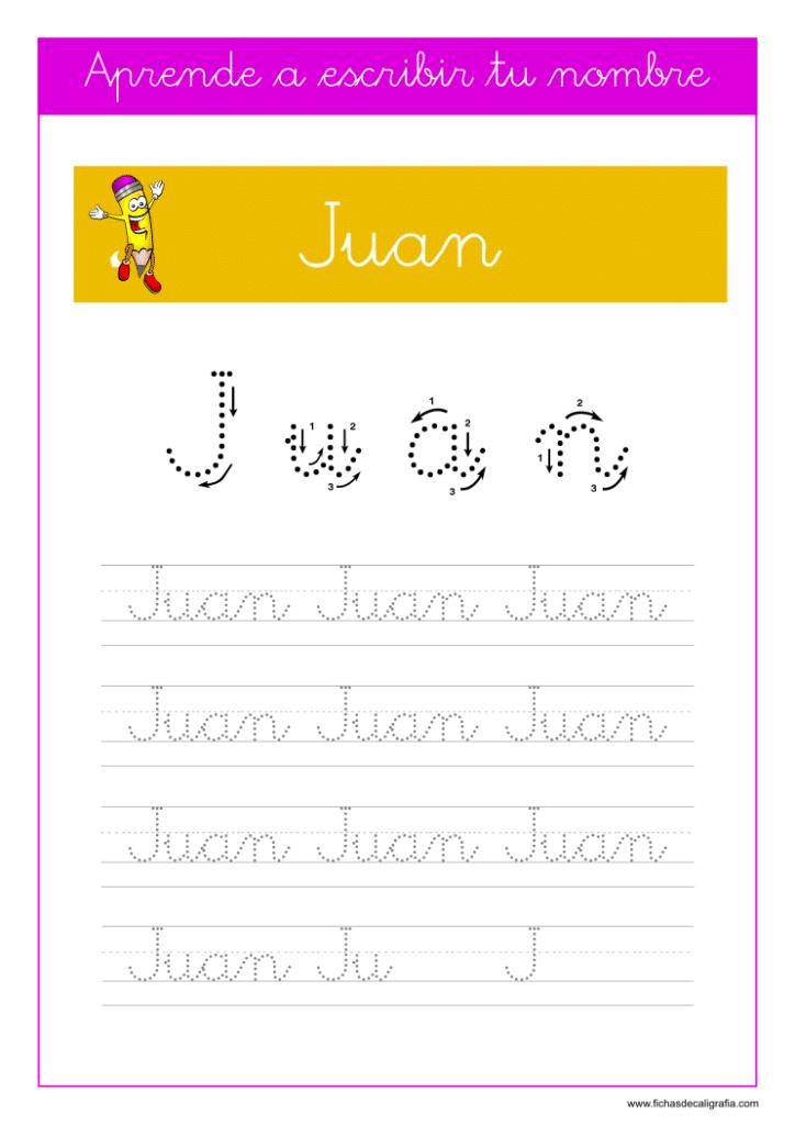 Caligrafía Juan