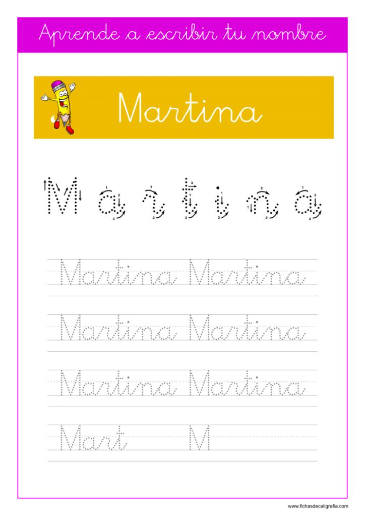 Caligrafía Martina