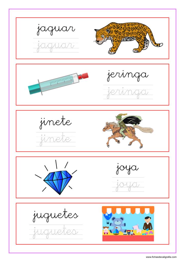 Palabras que empiezan por la letra j