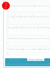 Caligrafía con frases y oraciones para mejorar la escritura, recursos educativos