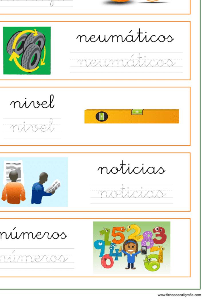 Ficha con palabras que empiezan por na-ne-ni-no-nu, recursos educativos