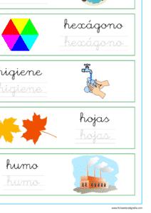 Recursos educativos, palabras que empiezan por la letra h, lectoescritura