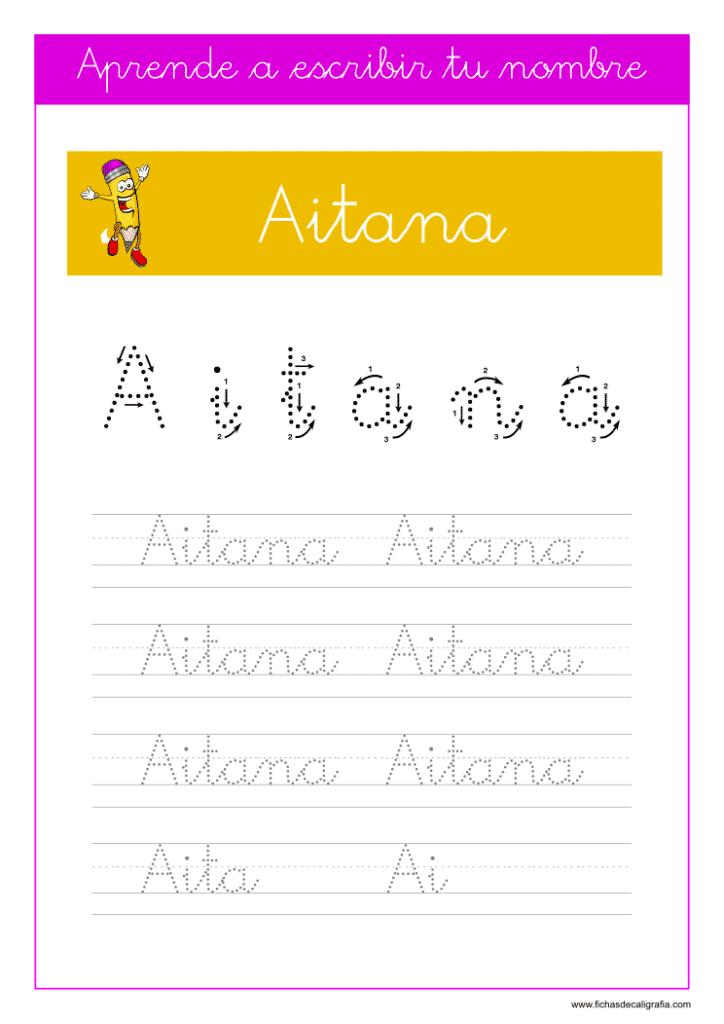 Caligrafía Aitana