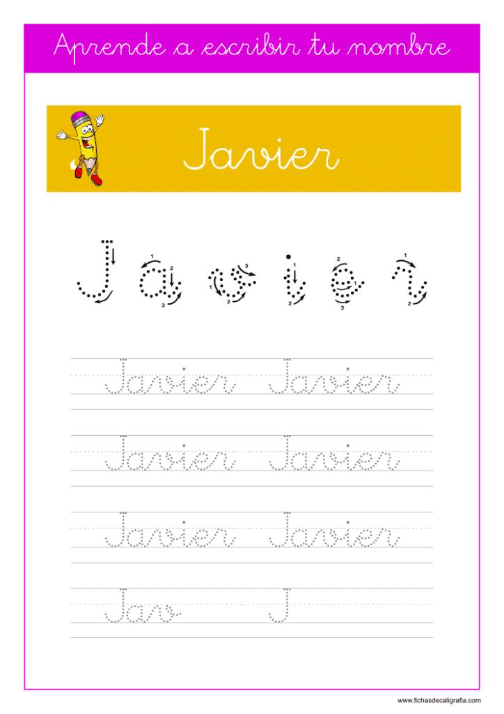 Caligrafía Javier