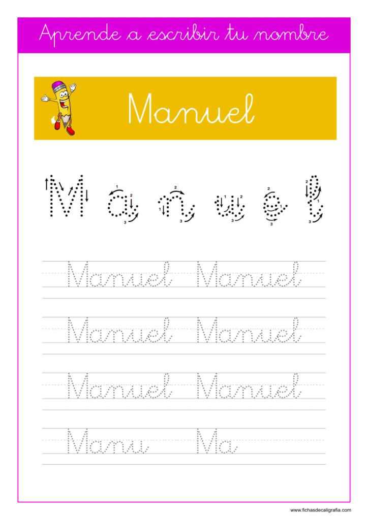 Caligrafía Manuel