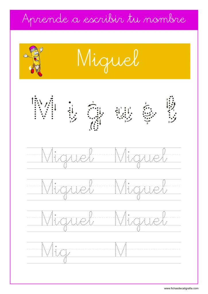 Caligrafía Miguel