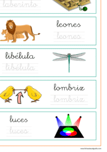 Ficha de lectoescritura con palabras que empiezan por la-le-li-lo-lu, recursos educativos