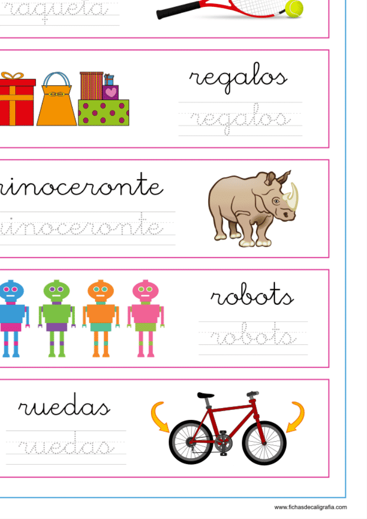 Recursos educativos, ficha de lectoescritura con palabras que empiezan por ra-re-ri-ro-ru